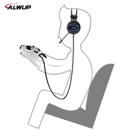 ALWUP A9 Gaming Headset PS4 Xbox One gamer Headphones for computer with Microphone PC Gamer Headphone with Mic for Playstation 4