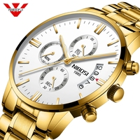 Nibosi Watch Men Luxury Famous Watches Top Men'S Fashion Casual Dress Gold Watch Military Quartz Clock Wristwatches Saat