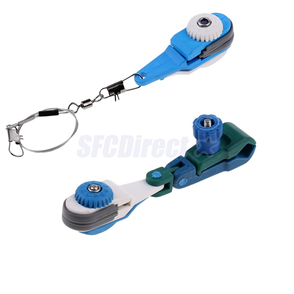 Heavy Duty Adjustable Tension Downrigger Outrigger Trolling Release Clips, 2 Models