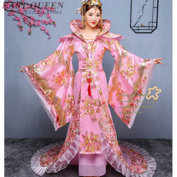 Chinese folk dance clothing dress ancient chinese costume queen stage wear performance oriental dancing cosplay AA4057