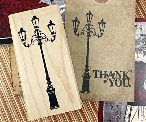 DIY Scrapbooking Korea streetlight Шамшырақ ретро мөртабандар Vintage Wood Rubber Stamp Альбом Decoration Stamp Жоғары сапалы