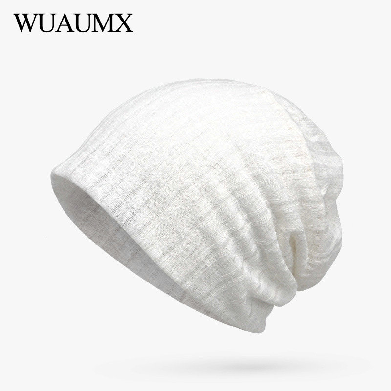 Wuaumx Fashion Solid   Beanies   Hats For Women Spring Summer Turban Hats Headwear Hedging Cap Breathable   Skullies     Beanies   Ladies