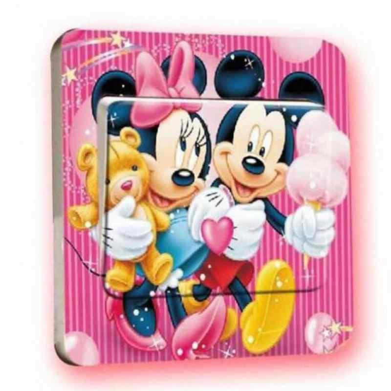2 шт. много стилей креативные Микки и Минни детская комната переключатель розетки наклейки, Гостиная наклейки для украшеия спальни