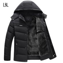 Winter Warm Jacket Men Autumn Thick Hooded Men's Coat Fleece Windproof Down Parkas Male Brand Outwear chaqueta hombre 2018 New(China)