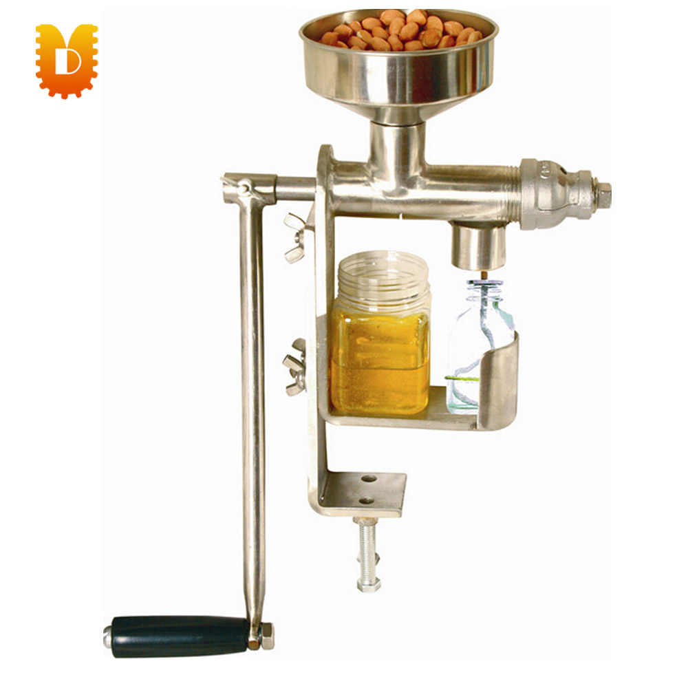 (peanut, sunflower seed, sesame seed, walnut, olive, coconut oil,)manual house hold mini oil press machine