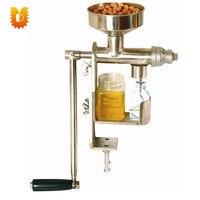 (Peanut  semente de girassol  semente de sésame  noz  azeitona  óleo de côco) casa manual segurar mini máquina da imprensa do óleo