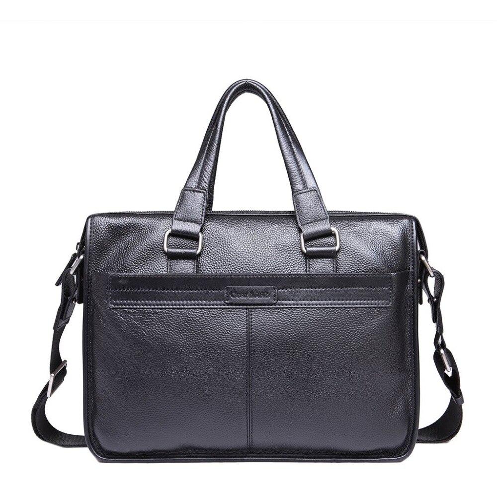 купить New Fashion Cowhide Genuine Leather Bag Men Famous Brand Gear BAND Business Shoulder Bag Messenger Bag Fashion Men's Travel Bags по цене 4079.17 рублей