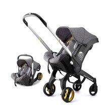 4 в 1 многопозиционная коляска из алюминиевого сплава, корзина для сна, складная переносная коляска для новорожденных