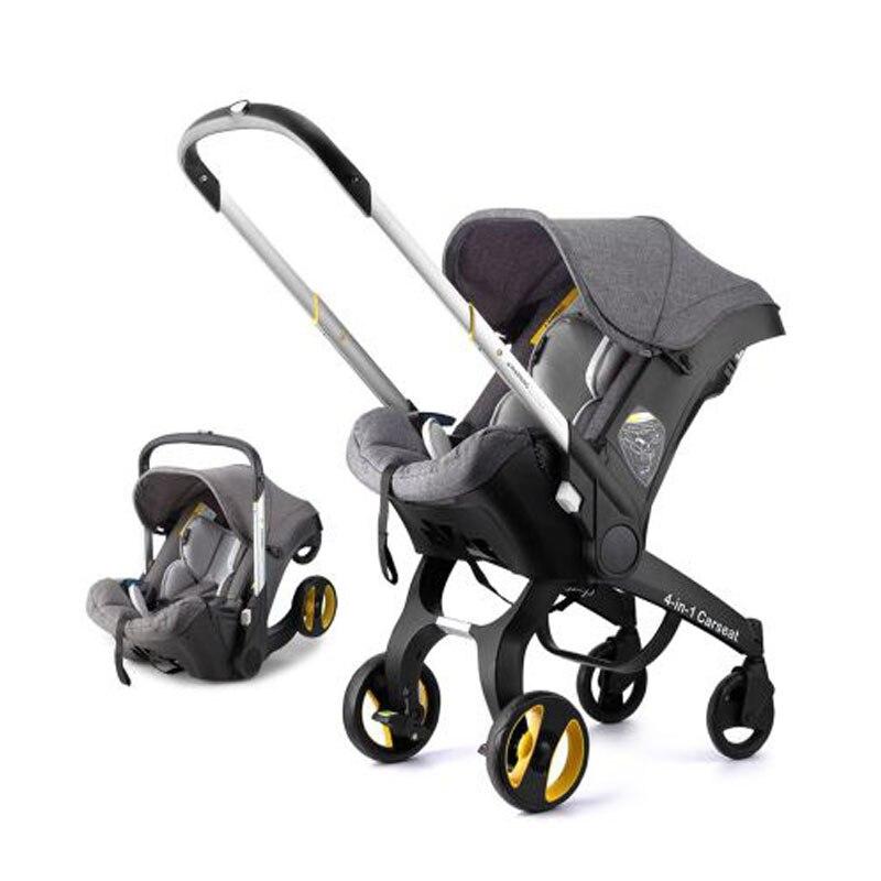 4 In 1 Multi-position Stroller Aluminum Alloy Stroller Sleep Basket Newborn Baby Carriage Foldable Portable  Stroller
