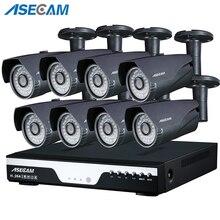 купить 1080P CCTV System POE NVR 1080P Video Output 2.0MP CCTV POE IP Camera Home Security Surveillance Kit Xmeye App Motion detection по цене 12441.3 рублей