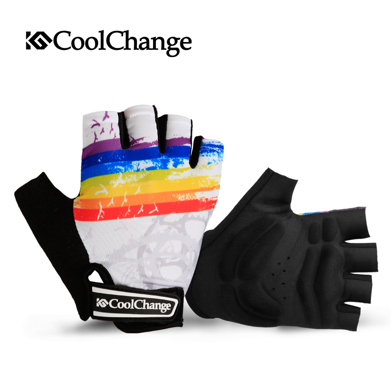 Coolchange Cycling Gloves Half Finger Men Women Summer MTB Bike Gloves Road Mountain Breathable Shockproof Bicycle Gloves