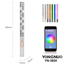 YONGNUO YN360II YN360 II 3200K-5500K Changeable RBG Colorful Handheld LED Video Light with Built-in 5200mAh Lithium Battery