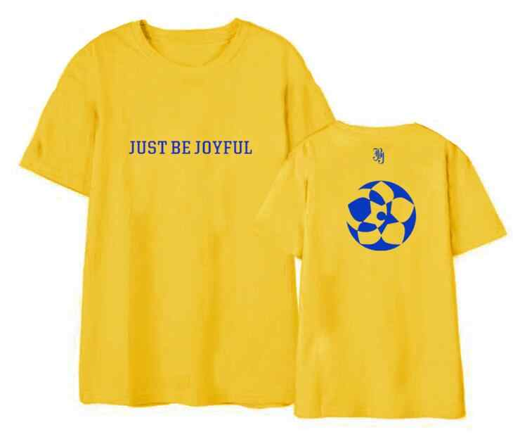 Mùa hè phong cách unisex kpop jbj buổi hòa nhạc cùng một được vui vẻ in ấn t-shirt đàn ông phụ nữ k-pop o cổ ngắn tay áo t shirt 7 màu