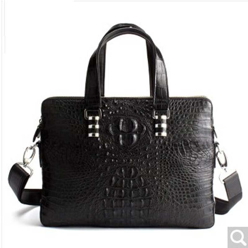 niierkadeng Men's handbag of alligator skin business case can carry a man with a laptop bag crocodile ksin men bag