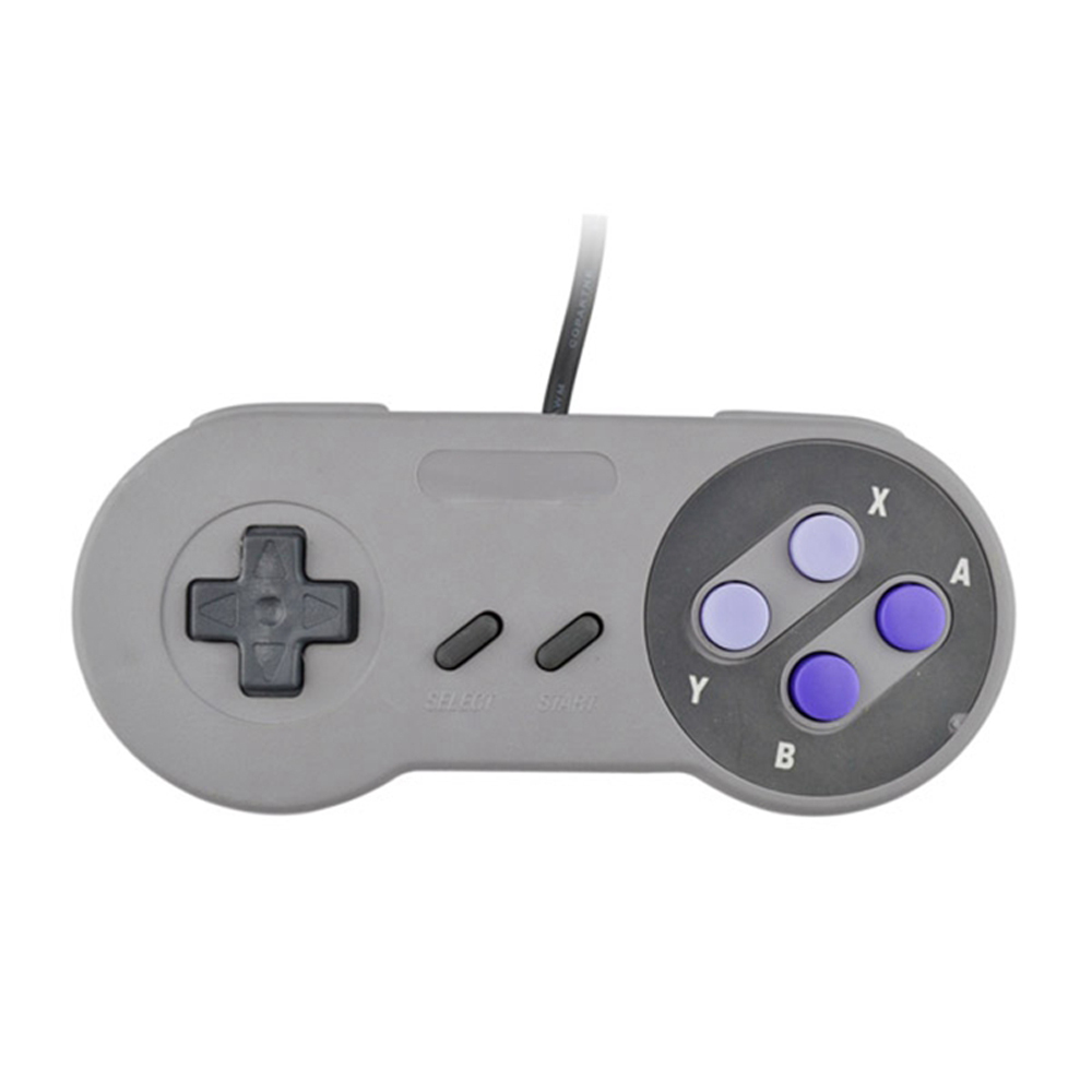 xunbeifang 100pcs/ lot Grey button USB Game Controller for PC not for SNES Classic Gamepad Games for most PC systems