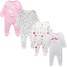 Jumpsuit with Long Sleeve for Newborn, 4 Pcs Set