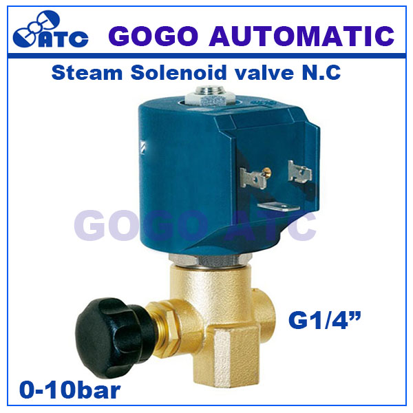 Gogo normally close brass high temperature steam solenoid valve gogo normally close brass high temperature steam solenoid valve viton g14 220vac adjustable ironing boiler solenoid valve in valve from home improvement ccuart Gallery