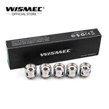 Original Wismec WM-M 0.15ohm Cabeça (5 pçs/lote) cabeça Bobina de substituição executado em 40-100 w para Wismec Sinuoso RAVAGE Kit Gnome