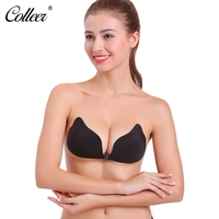 COLLEER Sexy Lingerie Push Up Bra Bralette Underwear Women Silicone Bra Seamless Strapless Invisible Bra