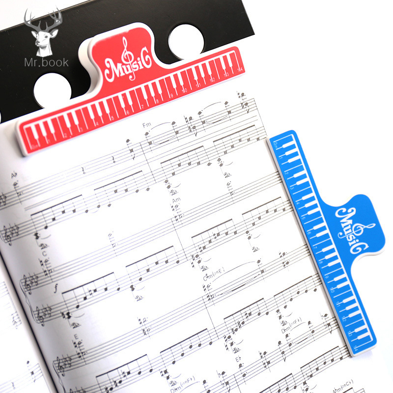 4pcs Plastic Music Score Fixed Clips Book Paper Holder For Guitar Violin Piano Player Multifunction Bill File Spring Clips 15cm