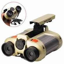 4×30 Binocular Telescope telescopio binoculo Pop-up Light Night Vision Scope Binoculars Novelty Children Kid Boy Toys Gifts