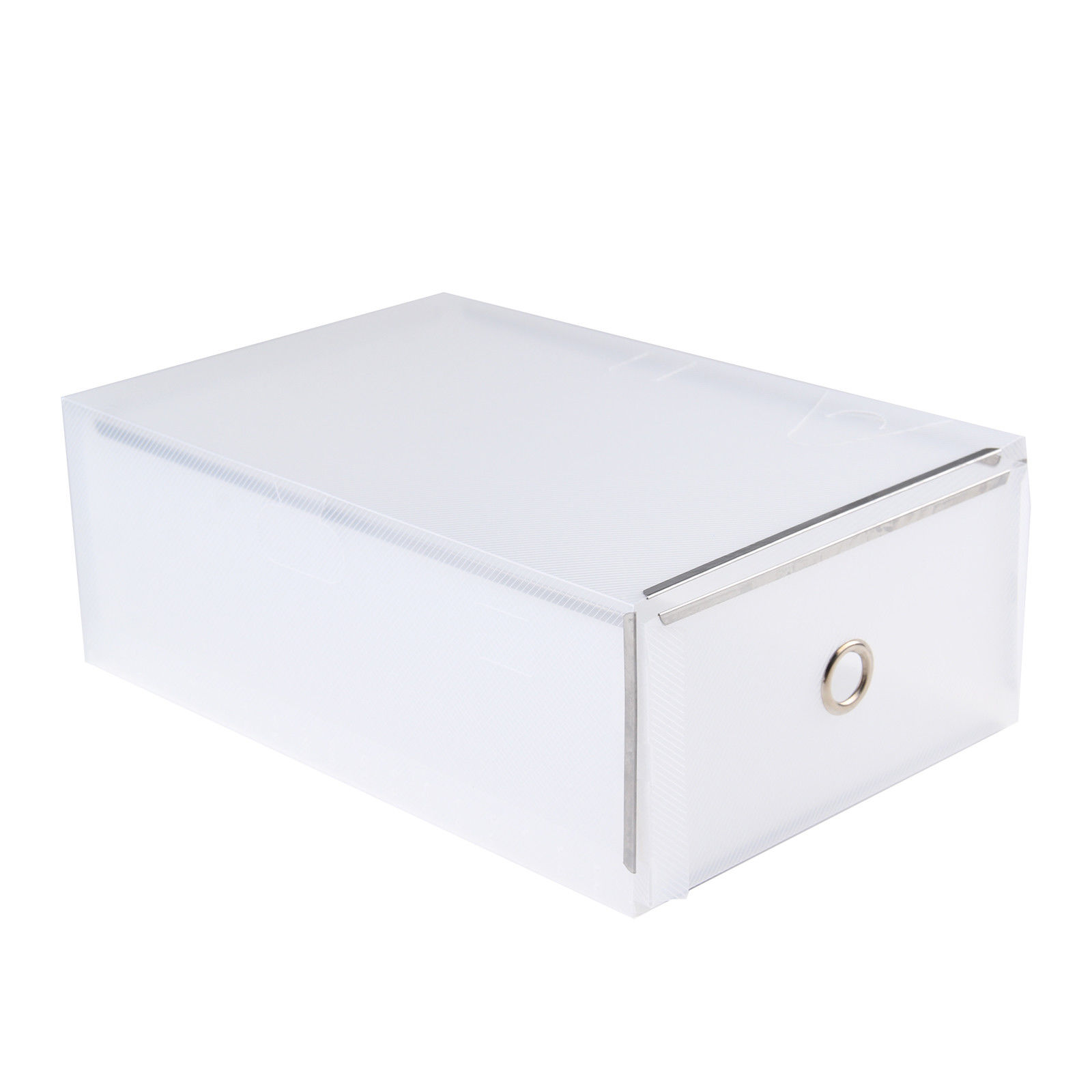 Plastic Drawer Shoe Storage Box Stackable Organiser Transparent Foldable Underwear Sock Storage Box Storage Drawers
