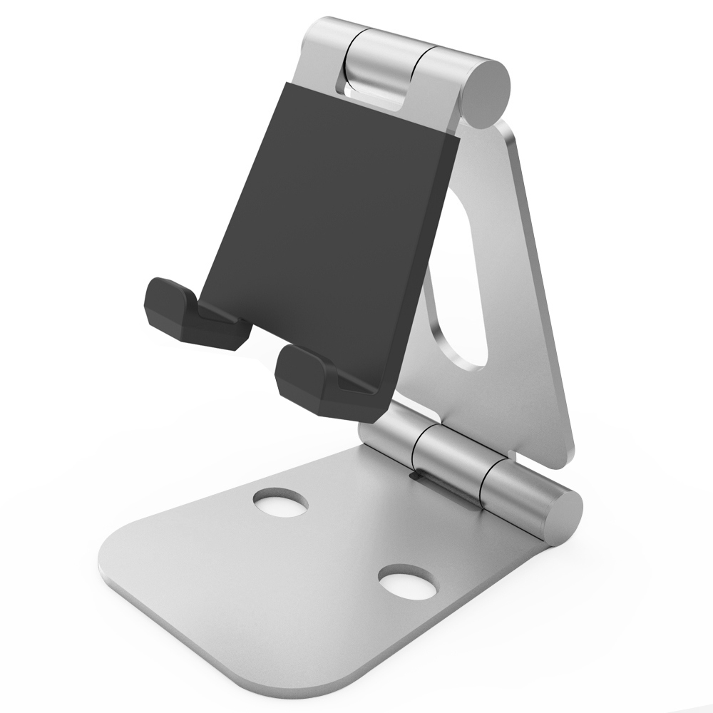 Universal Portable Fully Foldable Aluminum Desk Mobile Phone Holder Tablet E reader Metal Stand For 4 10 inch Smartphones Tablet