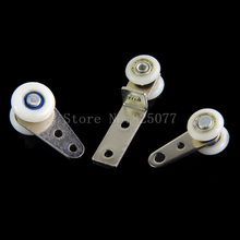 DHL Wholesale 200PCS window curtain wheels curtain parts nylon roller curtain heavy double pulley hardware JF1330 цены