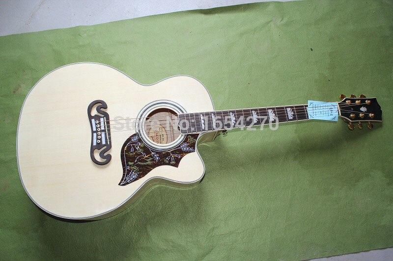 Бесплатная доставка OEM Гитары/многолетние поставки sj 185 Акустическая гитара народная J 185 EC 41 дюймов большое количество 150701