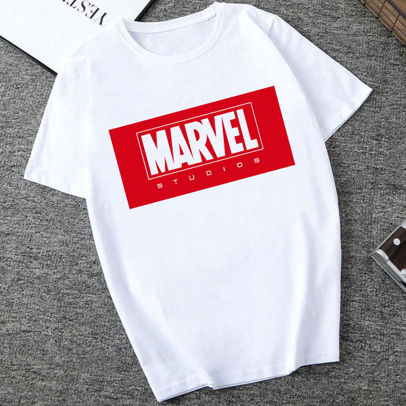 SexeMara Marvel Letter Print T-shirt Fashion Harajuku Graphic Tees Women Casual O Neck Plus Size T Shirt Femme Cool Streetware