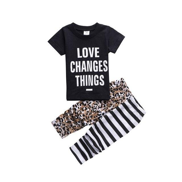 Autumn Baby Clothing Short Sleeve T Shirt Pants Baby Boy Pajamas Set