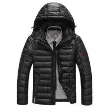 Brand Winter Jacket Men Down Parka Camperas Hombre Invierno Warm Coat Hooded White Duck Down Jackets Coat Men Warm Outwear Parka