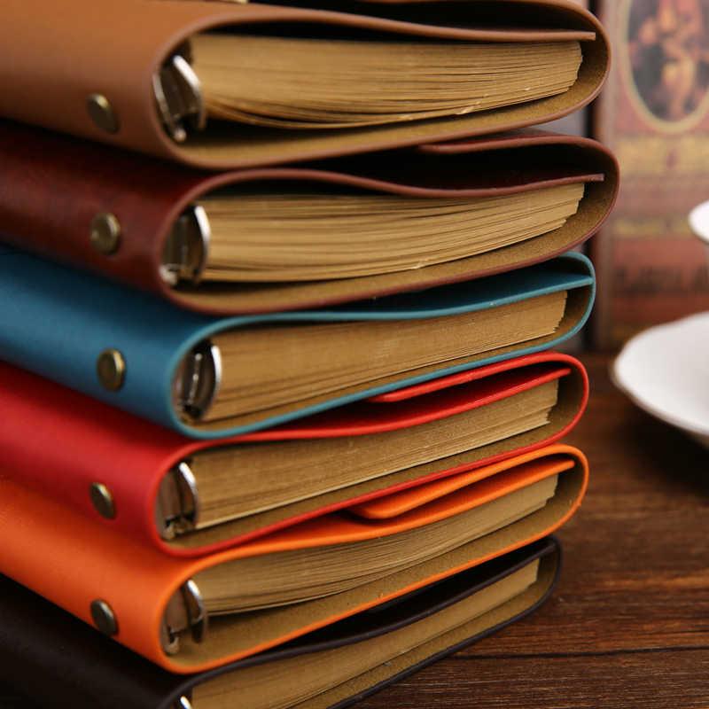 Винтажные дорожные записные книжки Дневник Блокнот из искусственной кожи спиральная литература записная книжка бумажные журналы планирования школьные канцелярские принадлежности подарок