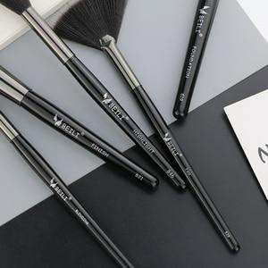 Image 5 - Набор кистей для макияжа BEILI Black, 40 профессиональных кистей для макияжа, Мягкая натуральная щетина, пудра, растушевка, основание веера для бровей, Кисть для макияжа