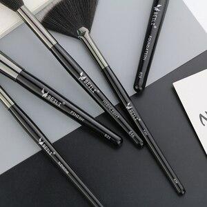 Image 5 - Beili 黒プロ 40 個のメイクブラシセットソフトナチュラル毛粉末ブレンド眉毛ファンファンデーションブラシ