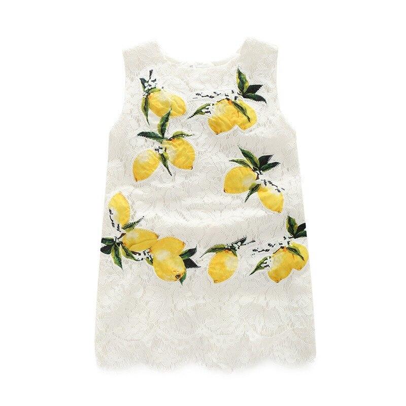 Lemon Girls Jumperdress ; White