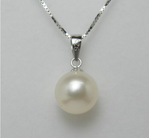 charm accessory silver shone> Top rating 9-9.5mm AAAA pendant/necklace 925s chain(16''/18'',3color choose)one