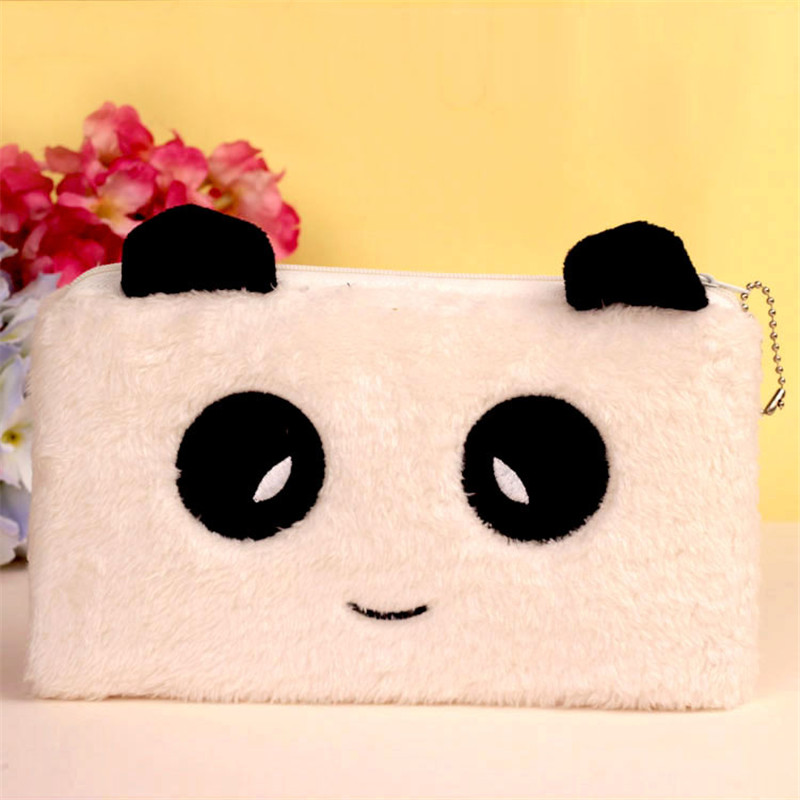 Cartoon Panda Animal Coin Bag Cute Plush Creative Animal Face Wallet Coin Purse Kids Purses Women Big Coins Bag 21*13cm 2017 new coin purses wallet ladies 3d printing cats dogs animal big face change fashion cute small zipper bag for women pouch