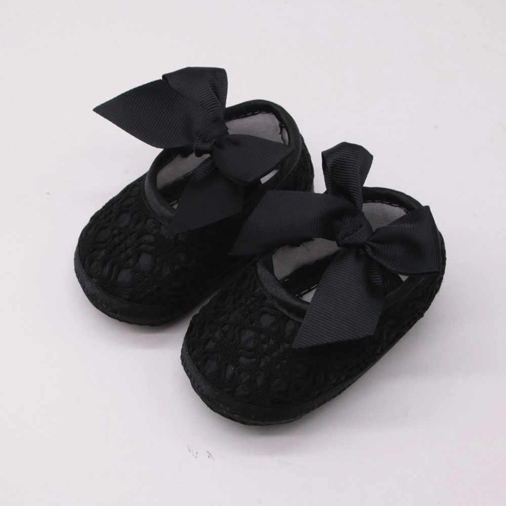 תינוקת נעלי תינוקות נעלי הליכונים הראשונות תינוקת נעלי Bowknot מוצק רך עריסה תינוק ילד נעלי 1 שנה ישן