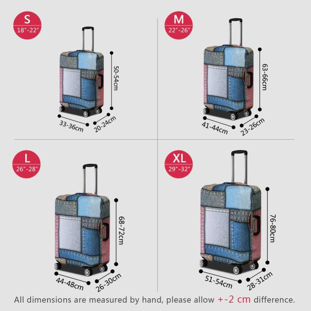 Dispalang настроить свой собственный дизайн чехол для багажа джинсовая печать толстый пылезащитный чемодан Чехлы для 18-32 дюймов Чехол поставки