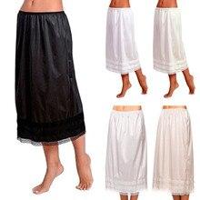 Женская эластичная юбка с завышенной талией, юбка для груди, гладкая юбка-пачка, Антистатическая полускользящая юбка, L-3XXL