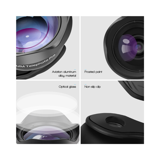 APEXEL 65mm Portrait Lens 3X HD Telephoto Lens Professional Mobile Phone Camera Lens for iPhone, Samsung Android Smartphone 1
