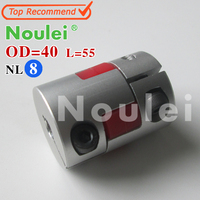 Noulei D40 L55 CNC Stepper Motor Shaft Coupler Flexible Coupling 12x12mm Motor Connector 12 12mm