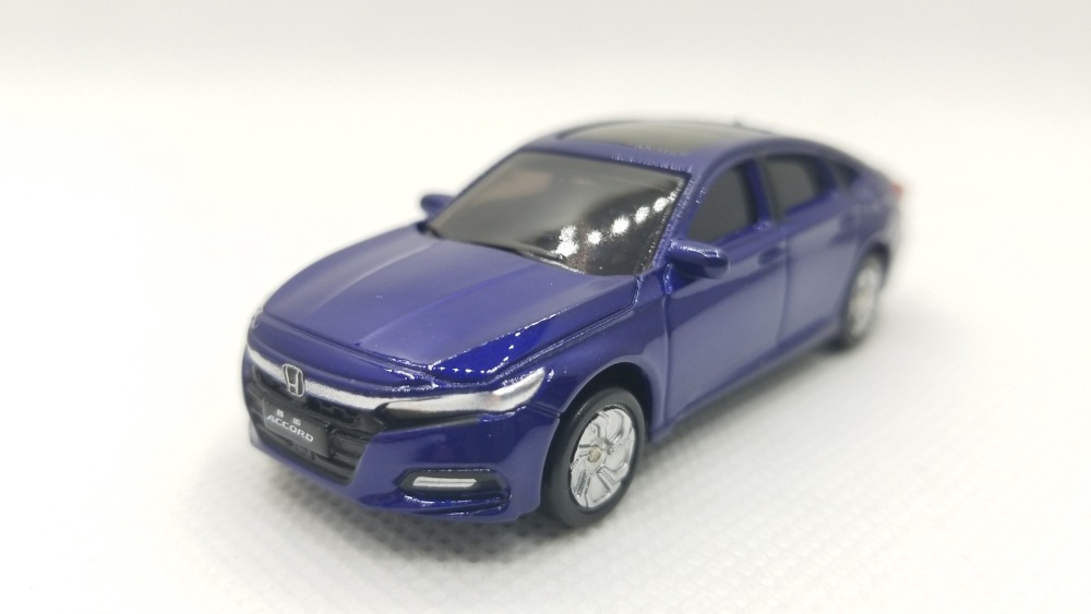 1:64 Diecast Model For Honda Accord 2018 Sport Turbo Blue Alloy Toy Car Miniature Gifts