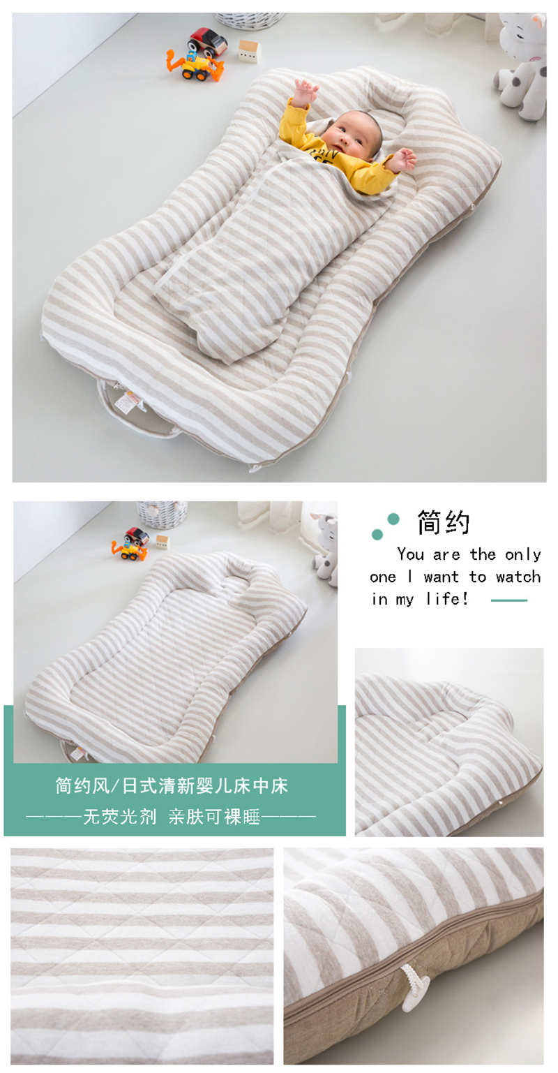 Portable Cotton Crib Fitted Sheet Soft Baby Bed Mattress Cover Protector Cartoon Newborn Bedding For Cot Size 60*110cm Baby Furniture