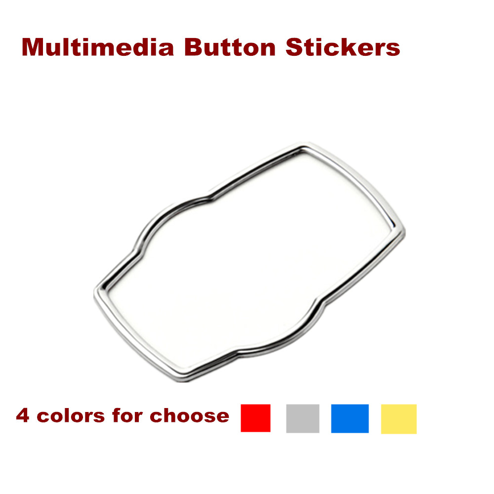 Beth New Car Multimedia Button Decoration Stickers For BMW X1 X3 X5 X6 E70 E83 E90 E91 F15 F16 F20 F21 F30 F10 Car Accessories
