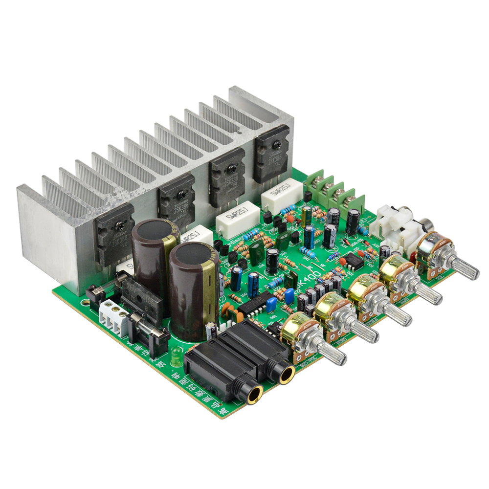 Aiyima Audio Power Amplifier Board HIFI Stereo Amplification Digital Reverb Power Amplifier With Tone Control 250W+250W aiyima 12v tda7297 audio amplifier board amplificador class ab stereo dual channel amplifier board 15w 15w
