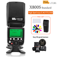 Pixel X800S 2.4G Wireless Flash Speedlite with TTL HSS 1/8000s Flash for Sony A7 A7S A7SII A7R A7RII A7II A6000 A6300 Vs Yongnuo