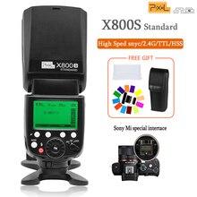 פיקסל X800S 2.4G אלחוטי פלאש Speedlite עם TTL HSS 1/8000s פלאש עבור Sony A7 A7S A7SII a7R A7RII A7II A6000 A6300 Vs Yongnuo