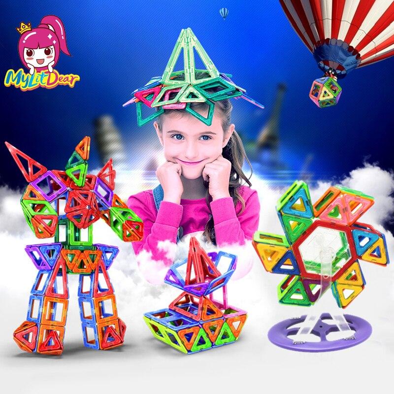 Mylitcher 79-175 pièces blocs magnétiques éducatifs ensemble de Construction modèles et jouet de Construction ABS aimant Designer enfants cadeau éducatif